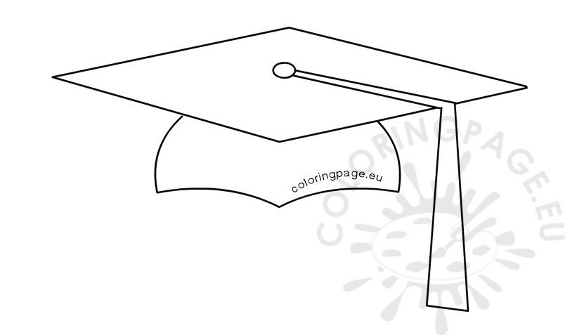 student graduation cap shape coloring page G Is for Graduation  Coloring Graduation Cap