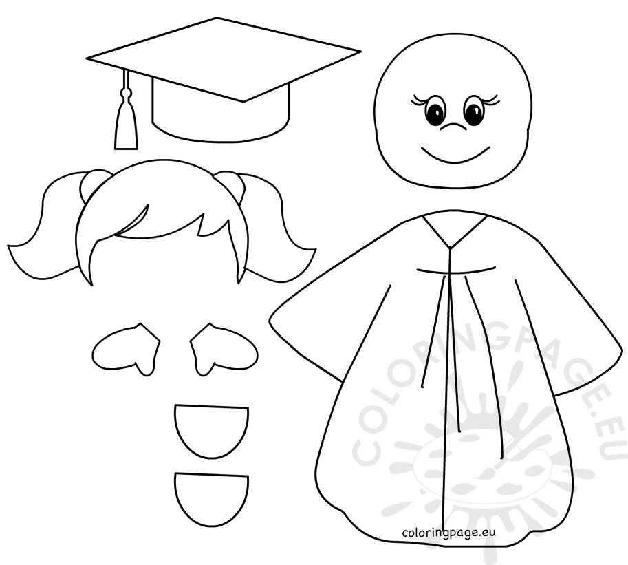 It's just a picture of Gratifying Preschool Graduation Coloring Pages