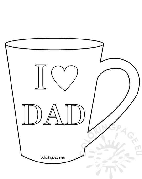I love dad mug template