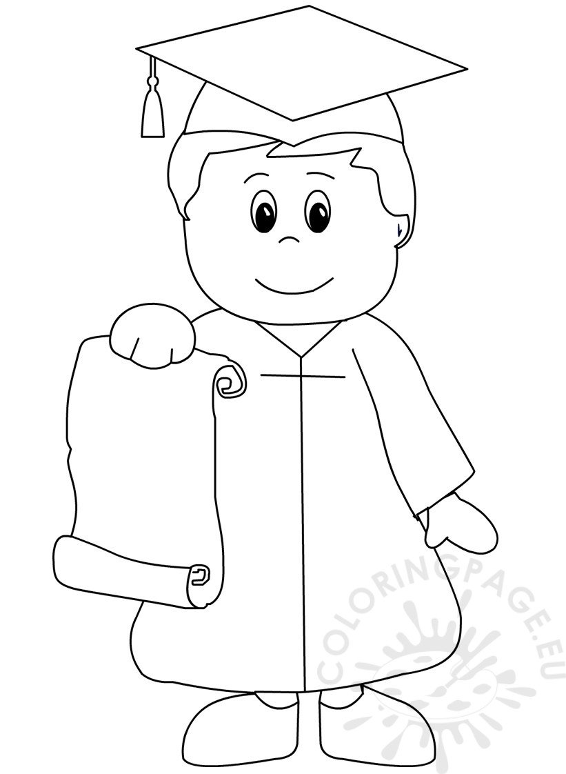 kindergarten graduation coloring page for preschool coloring page