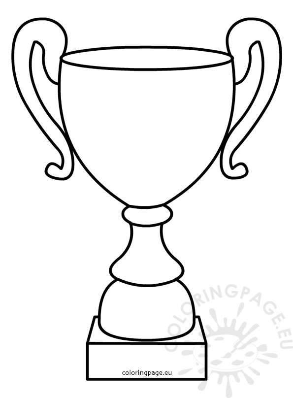 Father S Day Outline Illustration Trophy Cup Coloring Page