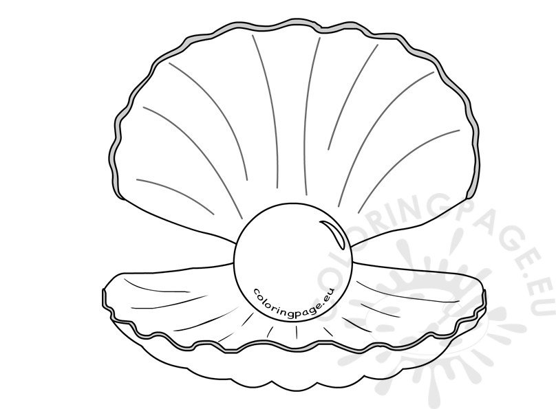 shell with pearl clipart kid coloring page Pirates of the Caribbean Coloring  Black Pearl Coloring Pages