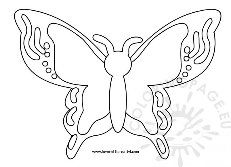 Small Butterfly Template Printable  Coloring Page