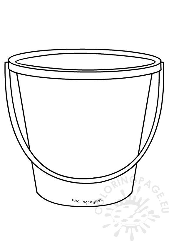 Summer bucket outline template