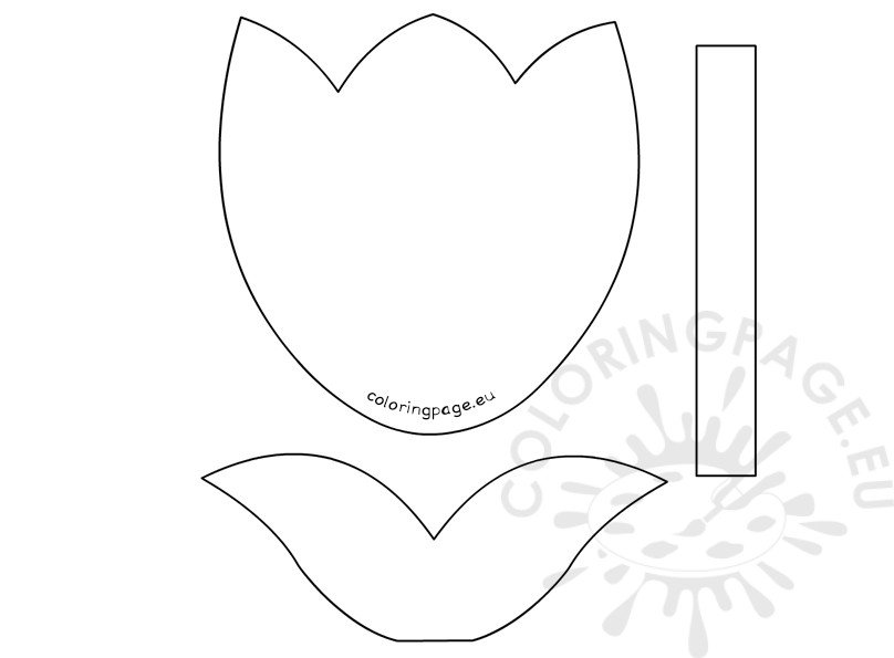 Paper Tulip Template Printable Coloring Page