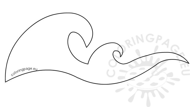 Ocean Waves Border Stencils Printable - Coloring Page