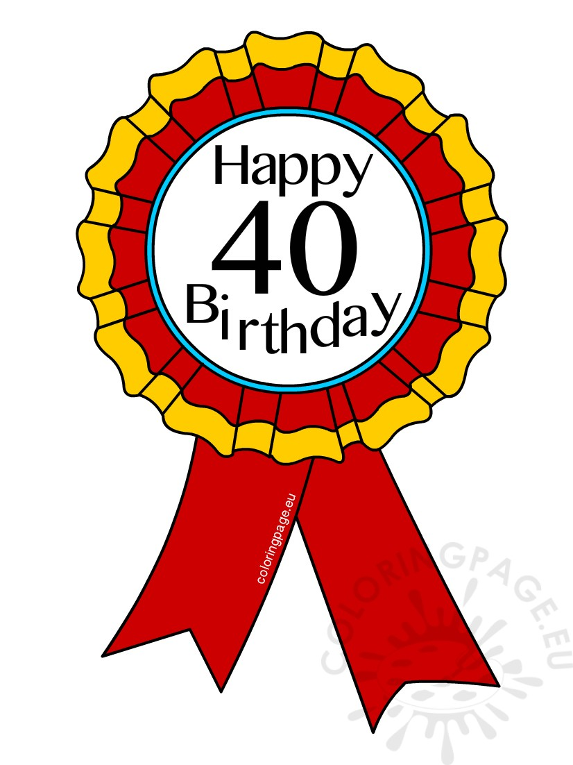 40th Birthday Award Ribbon