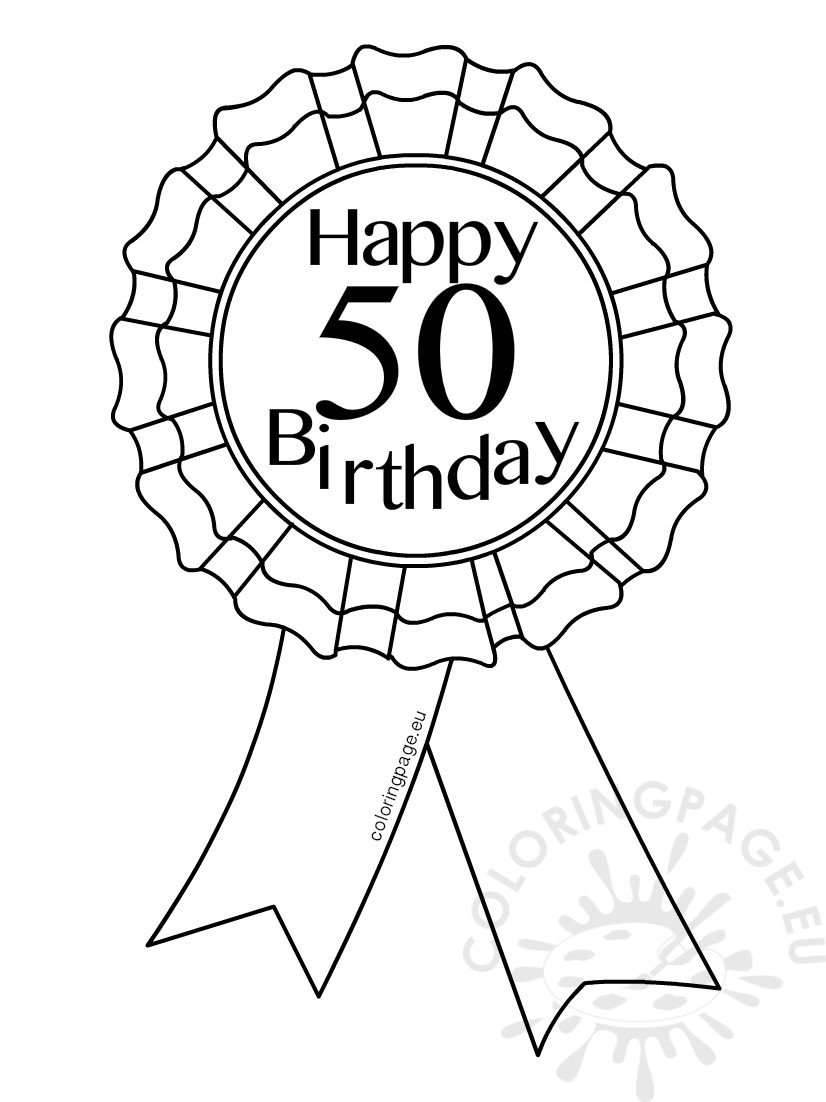 Printable Award Ribbon 50 Birthday