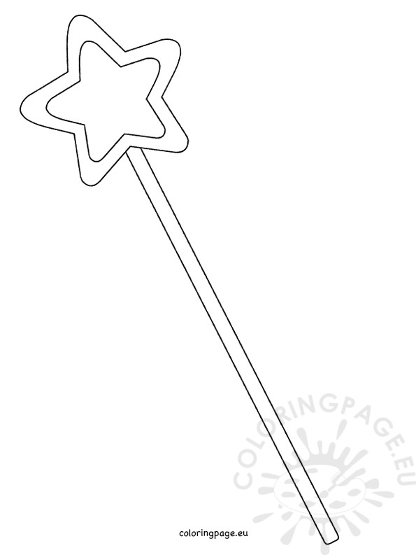 printable magic fairy wand template  u2013 coloring page