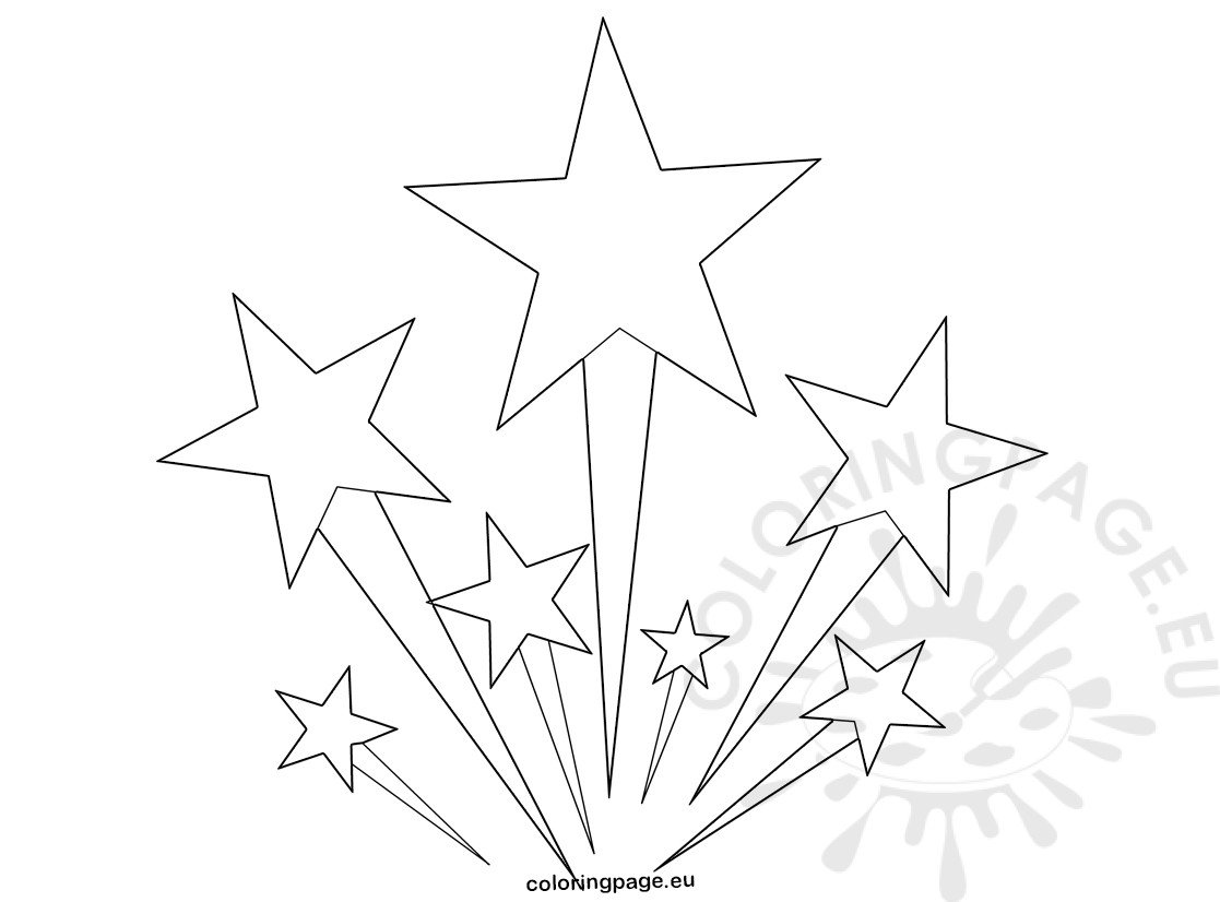 4th july fireworks stars colouring picture coloring page
