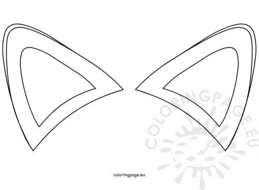 Elf ear template printable sketch coloring page for Template of a fox