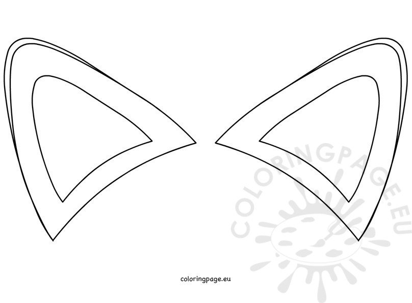 Fox ears template Coloring Page