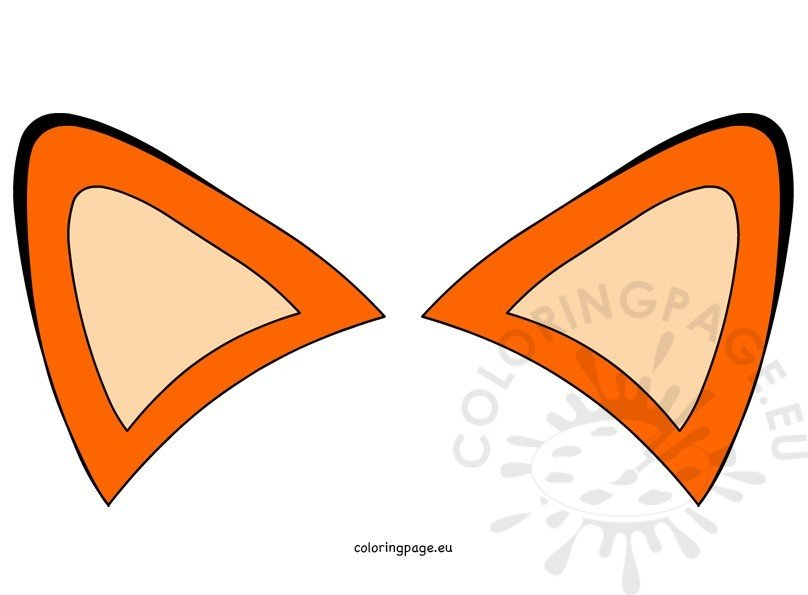 Orange Fox Ears Clipart