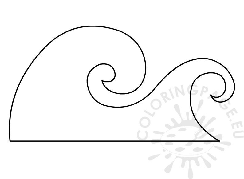 ocean wave template  u2013 coloring page