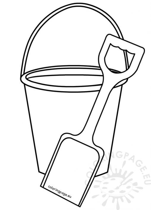 sand bucket template - nature coloring page