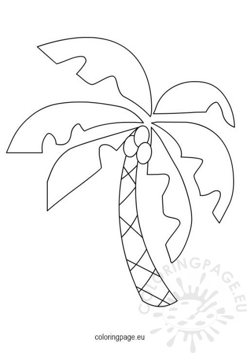 Abc coconut tree coloring page coloring pages for Printable coconut tree template
