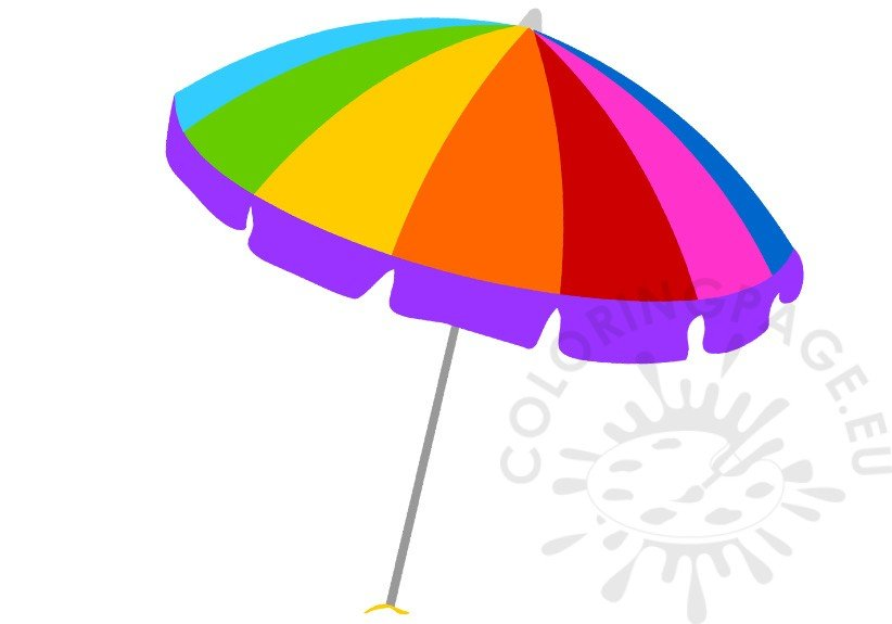 Open Rainbow beach umbrella vector