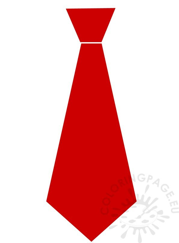 red paper tie template for kids coloring page
