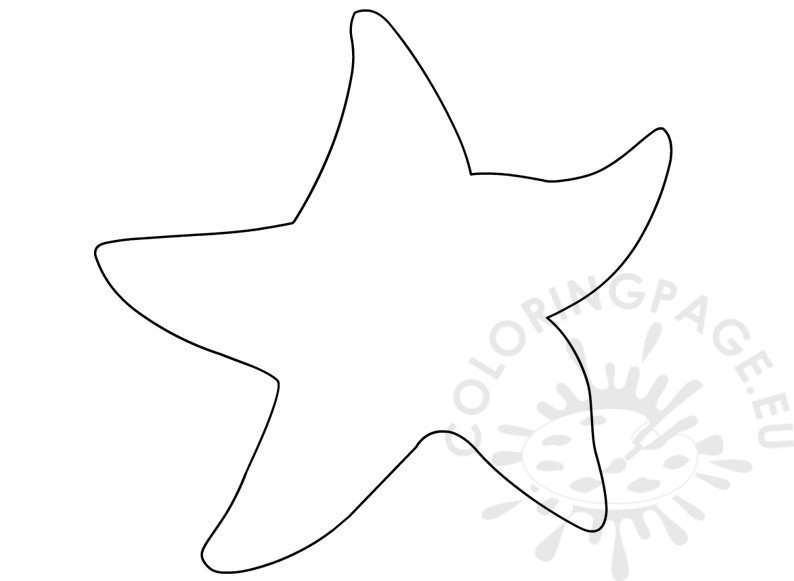photo relating to Printable Starfish known as Ocean Animal Printable Starfish Template Coloring Web site