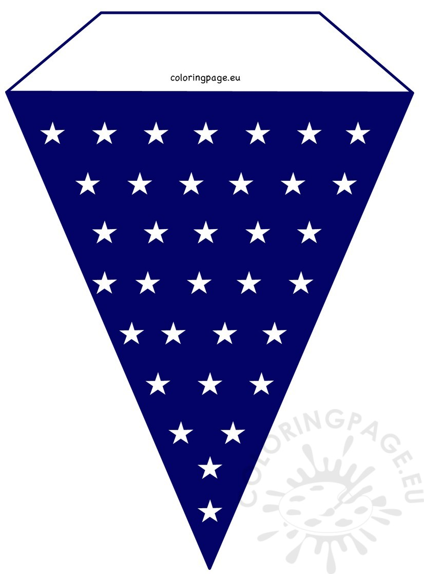 DIY Stars 4th July Pennant Banner