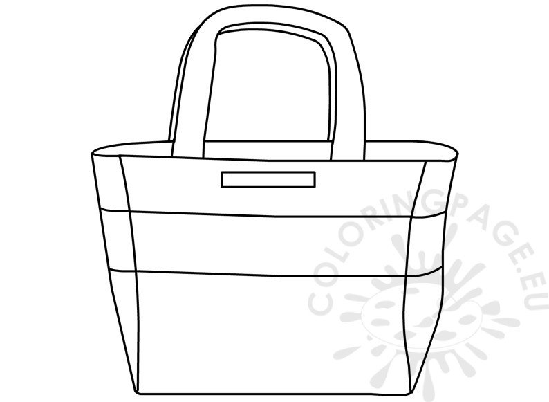 Summer colouring pages Large beach bag