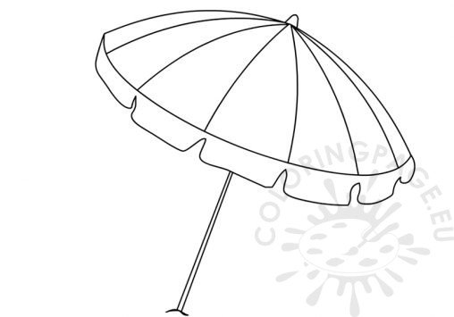 Summer coloring page for Umbrella coloring pages