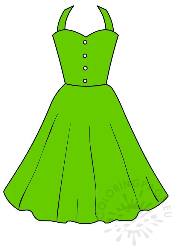 Green summer dress women