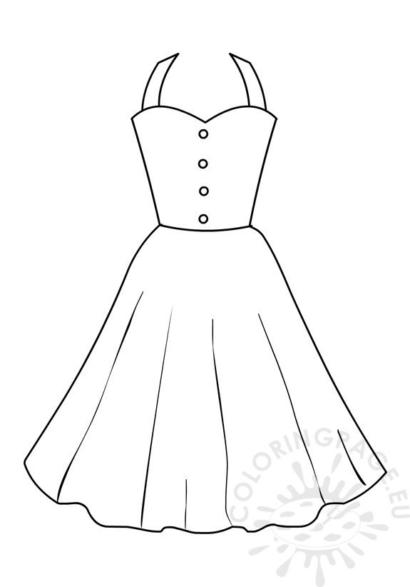 Coloring page girls Summer dresses for women - Coloring Page