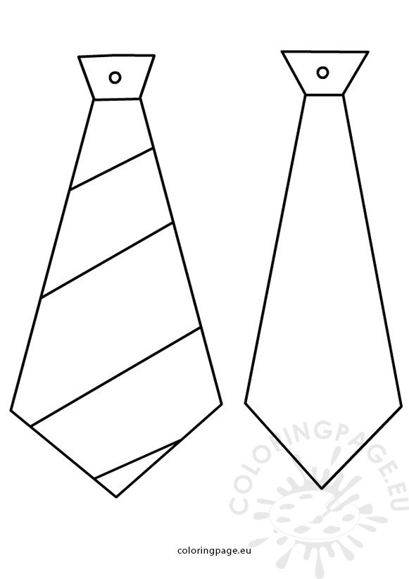 Fathers day crafts Ties patterns Coloring Page