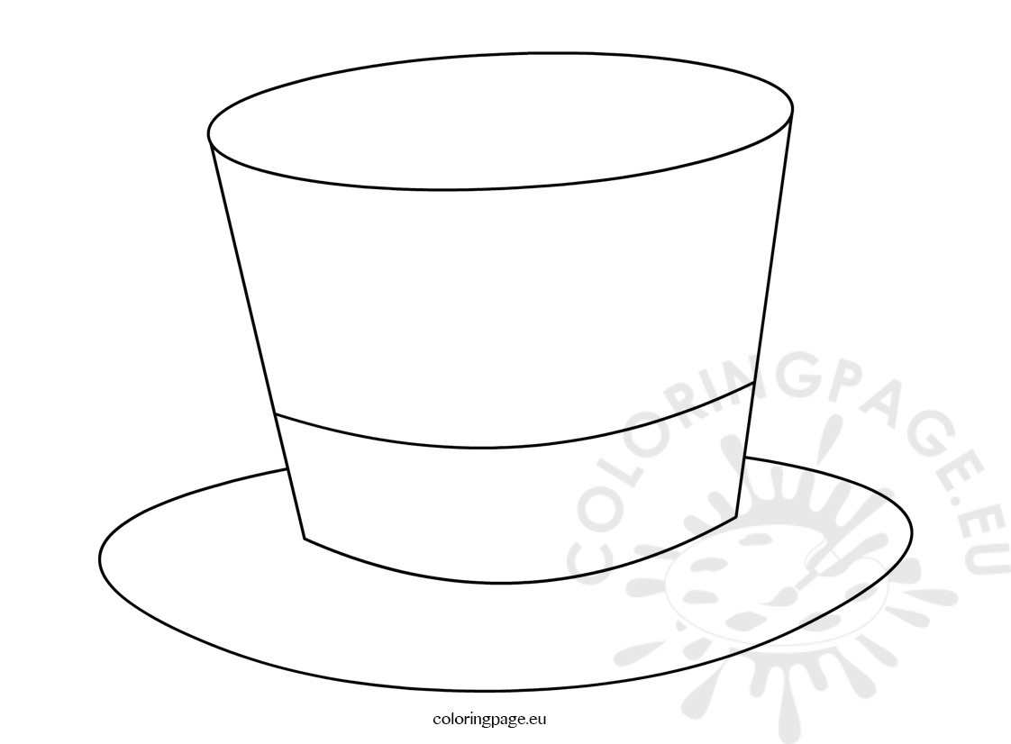 Sweet image pertaining to top hat template printable