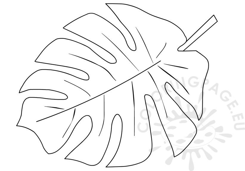 Printable Tropical Leaf Shape | Coloring Page