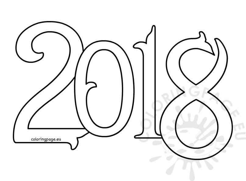 Vector New year 2018