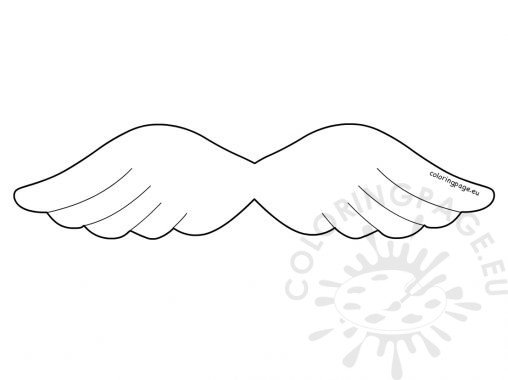 angel wing cut out template - photo #26