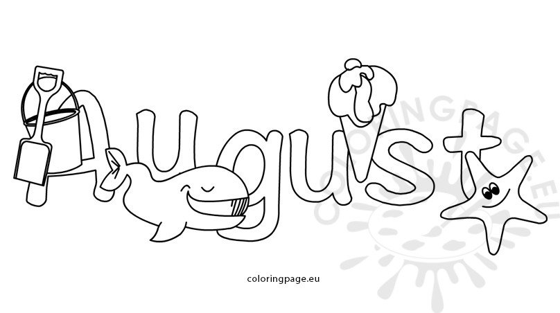 august coloring pages August month colouring pages for kids | Coloring Page august coloring pages