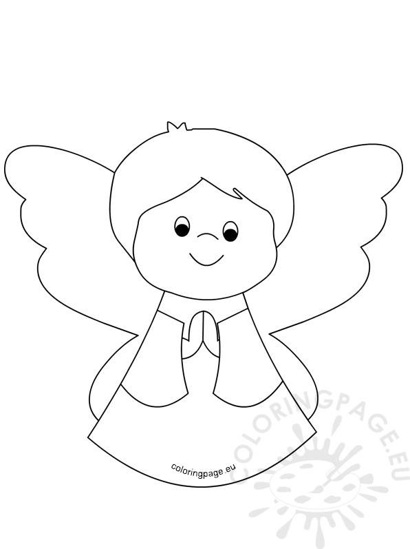 Black And White Baby Boy Angel Coloring Page