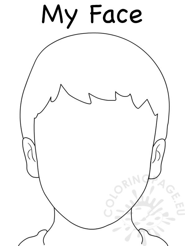 Face Blank Boy Template Coloring Page