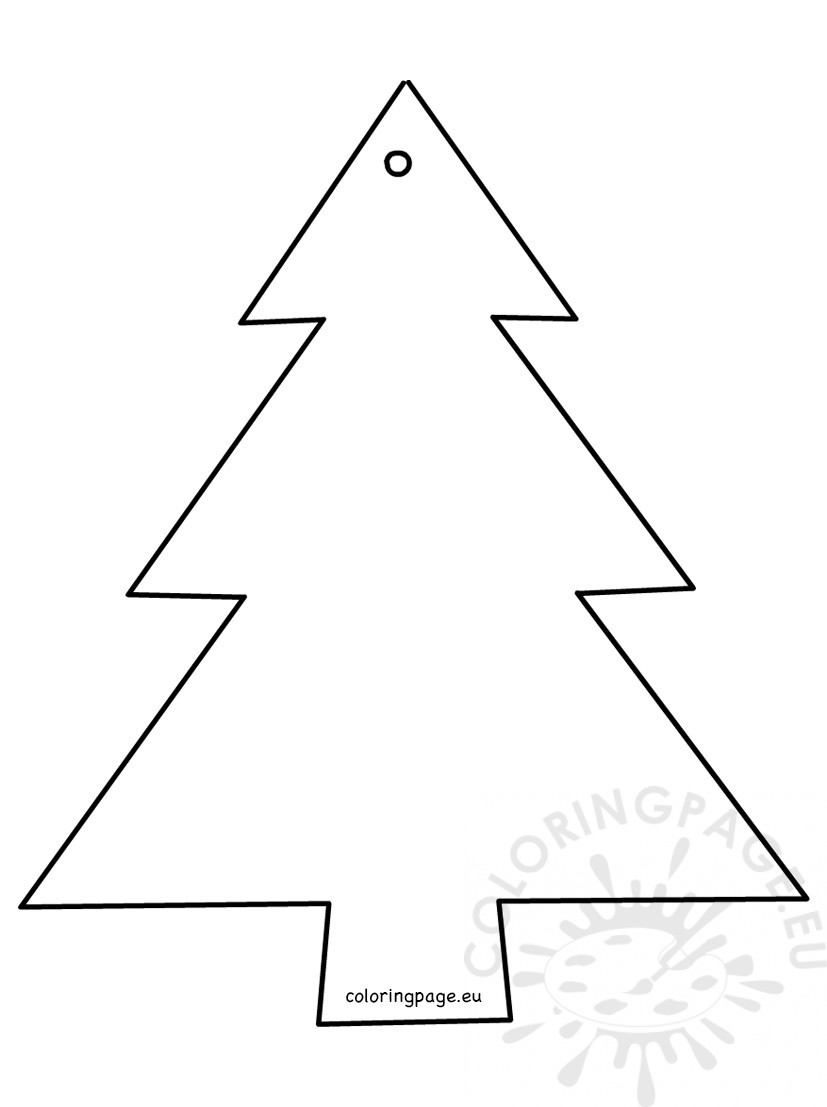Christmas Tree Cut Out.Christmas Tree Shape Cut Out Coloring Page