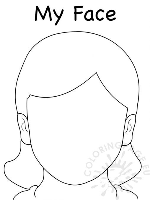 People coloring page for Blank face coloring page