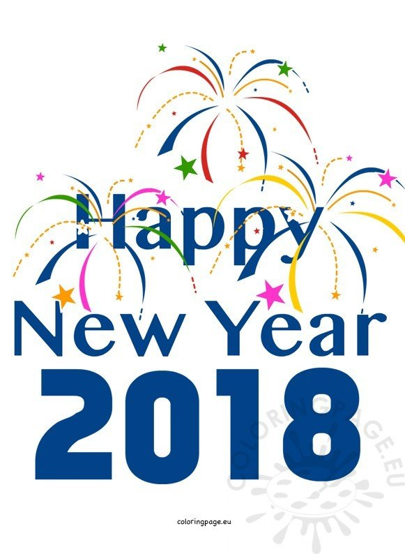 Happy new year 2018 banner clipart