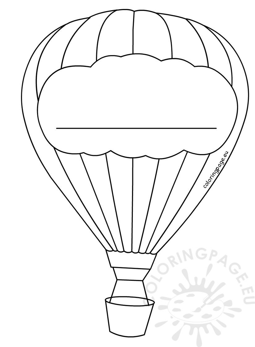 Hot Air Balloon Decoration template – Coloring Page