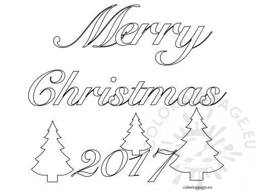 merry christmas words coloring pages - holiday coloring page
