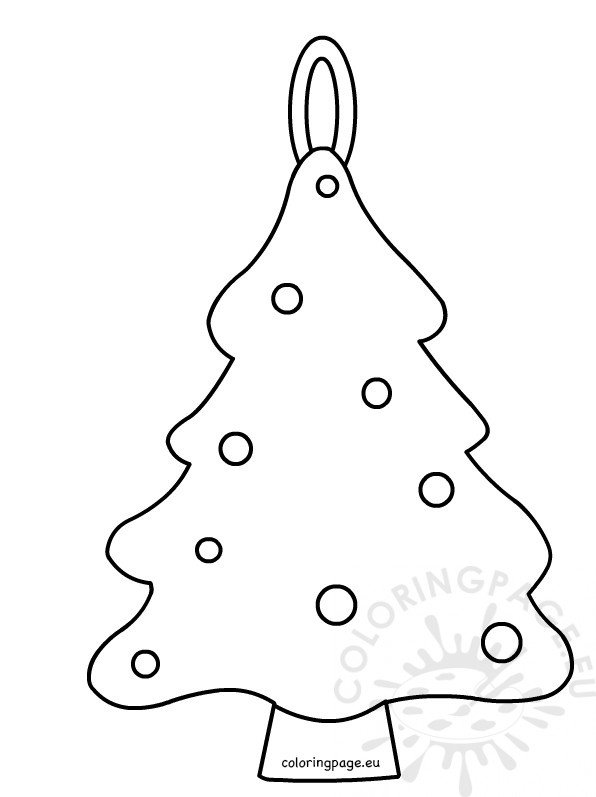 Printable simple Christmas tree pattern