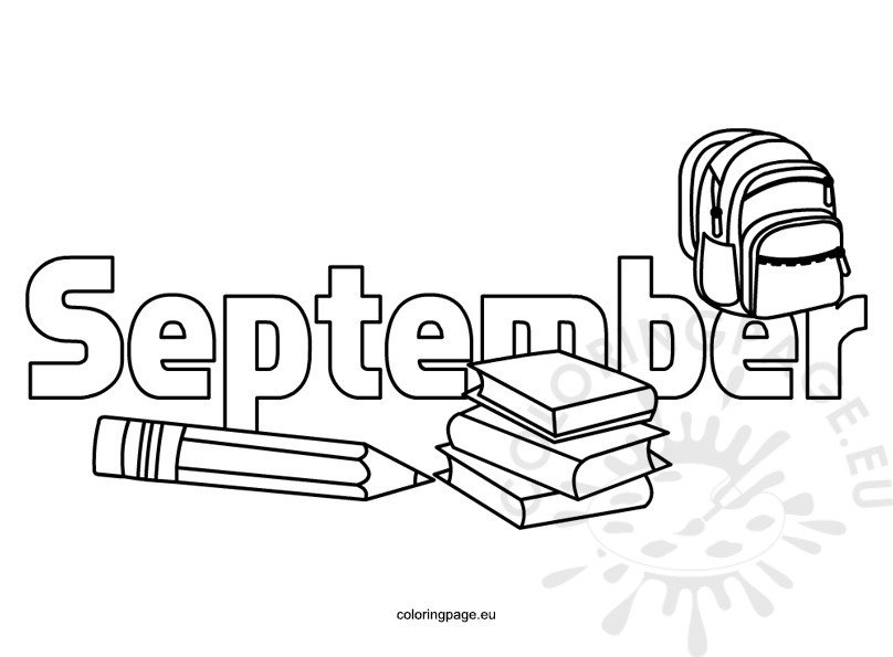 Coloring Pages Kids September Coloring Page