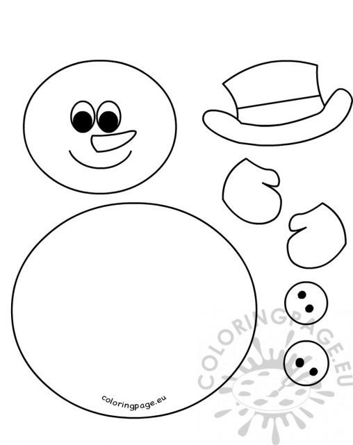 ... Create A Snowman Coloring Pages   Photo#17 ...