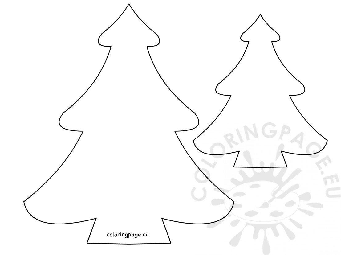 Christmas tree pattern printable - Coloring Page