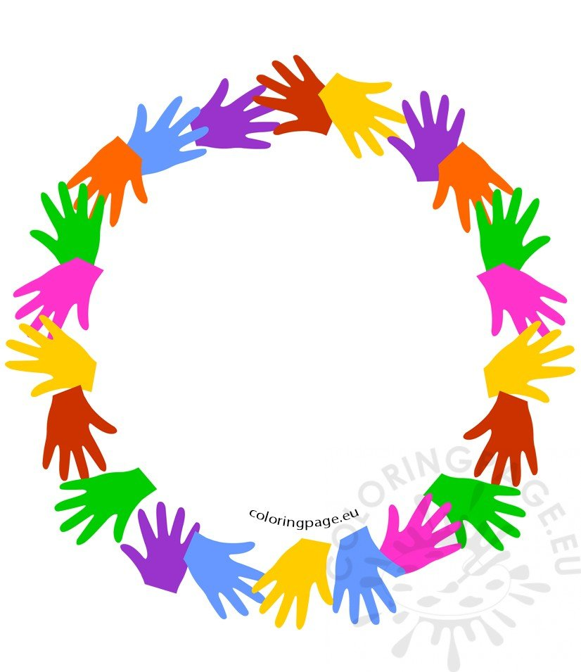 Colorful Circle Of Hands
