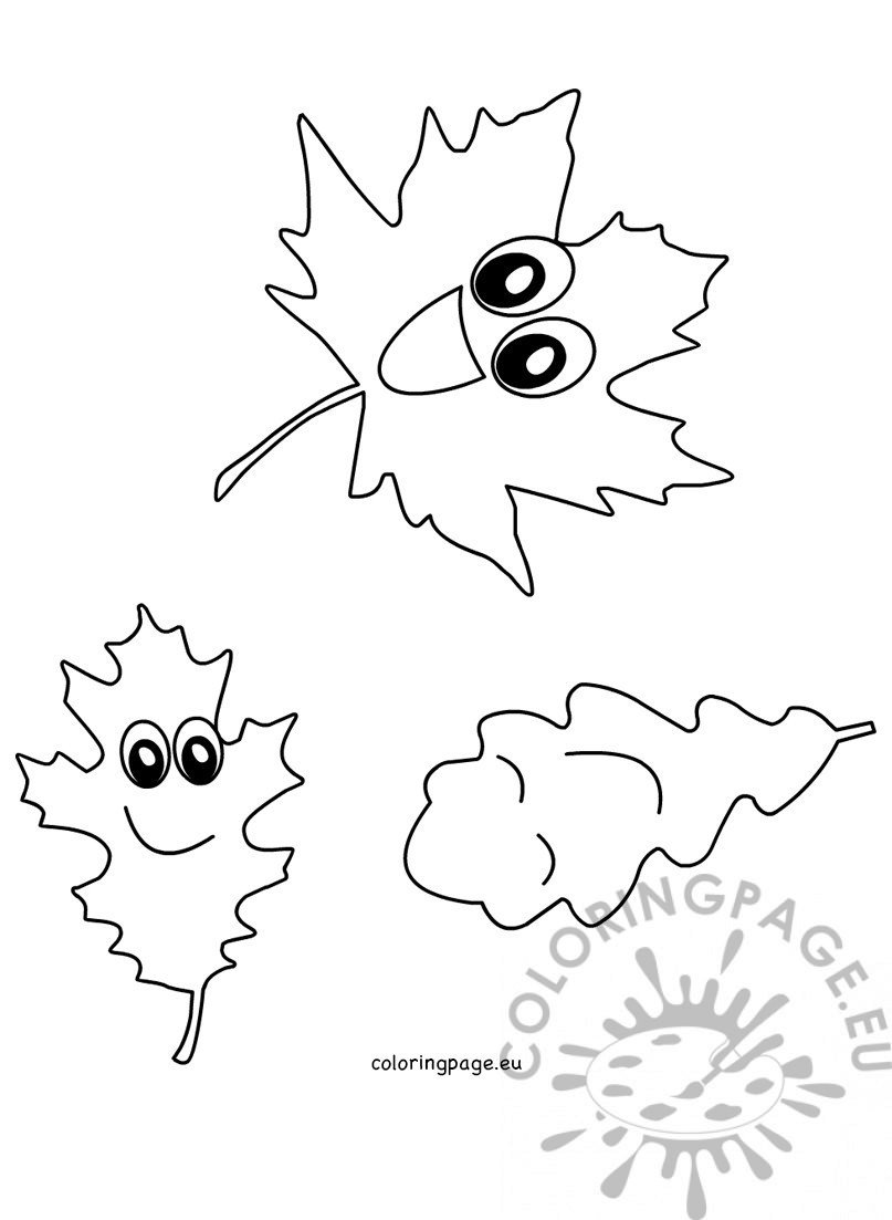 leaf fall clip art autumn coloring page