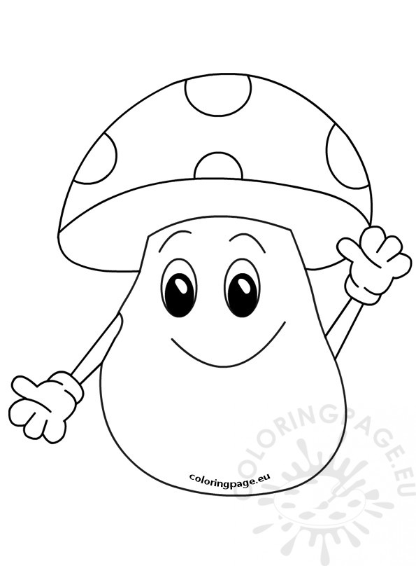 cartoon mushrooms coloring pages - photo#43