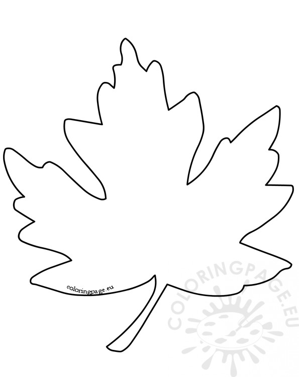 Printable maple leaf pattern Coloring Page