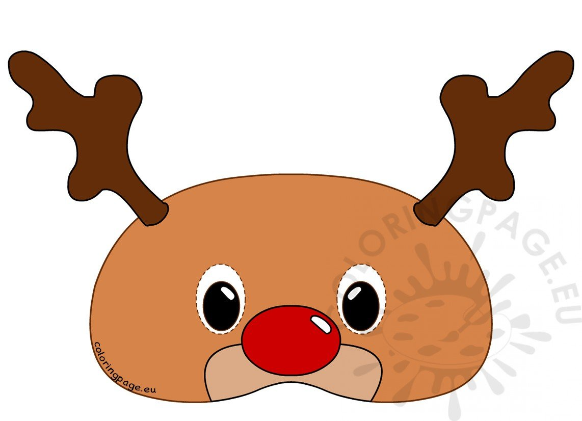 Reindeer Mask Rudolph Coloring